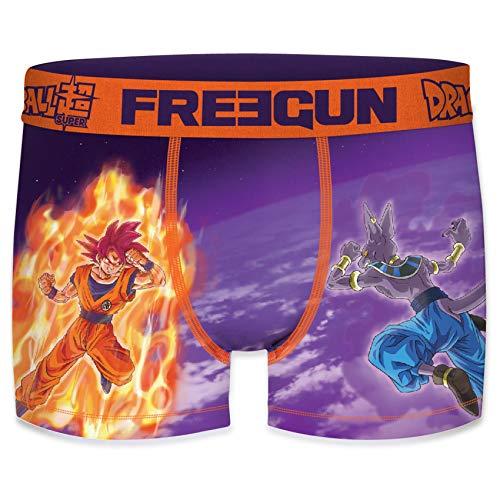 FREEGUN Bóxer para niño Dragon Ball Super (12/14 Años, Goku Vs Beerus)