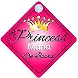 Princesse Maria on Board Personnalisé Fille Voiture Panneau pour bébé/enfant cadeau 001
