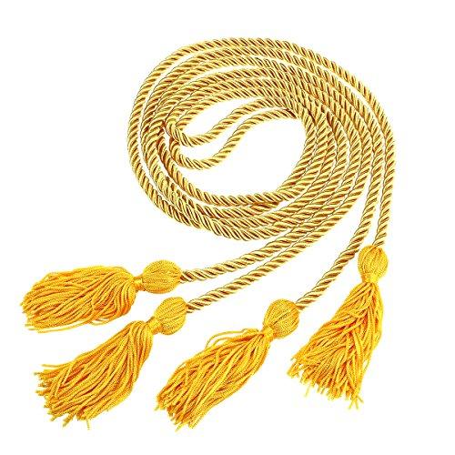 Amosfun Graduation Honor Cord Quasten Cord Polyester Bachelor Kleid Honor Cord für Abschlussfeier (gelb) Graduation Kleid