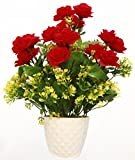 #5: Artificial flowers Red in pot for home and office decoration