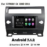 HD pantalla Android 7.1.2Quad Core 2G RAM 16G ROM para Citroen C42005–2011Radio de coche GPS Navi Radio de coche estéreo HEAD unidad