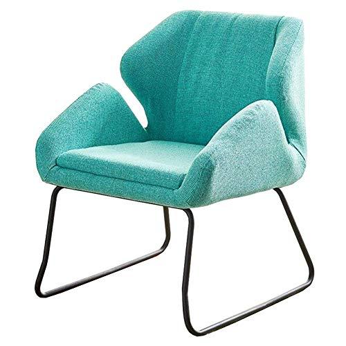 DSHUJC Sofa, Stuhl, Wohnzimmer Freizeit Kaffeemaschine Sessel gepolsterte Rückenlehne Tisch Stuhl Metall-Rahmen Rezeption Farbe Optional (Farbe: gelb) -