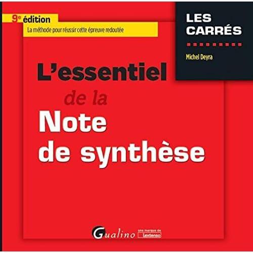 L'essentiel de la note de synthèse : 9ème édition
