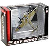 Richmond Toys Motormax Sky Wings Classic Mosquito Aircraft Die-Cast Model Approx 1:100 Scale with Authentic Details