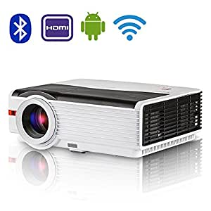 Led wifi projector bluetooth full hd 1080p support for Bluetooth projector for iphone