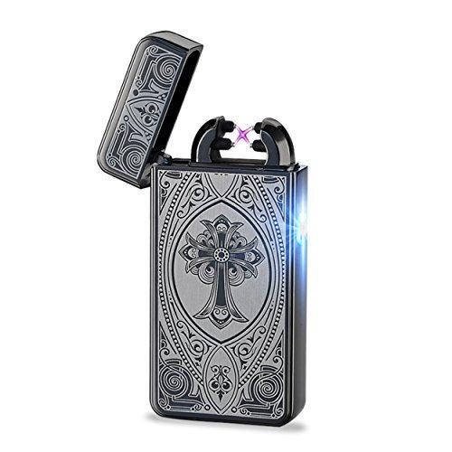 Aokvic USB elektronisches Feuerzeug aufladbar lichtbogen Kreuz