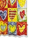 Ridder 358000-350 Duschvorhang Vinyl 180 x 200 cm Hearts