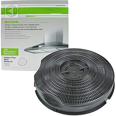 Hoover genuino HBP60X 30 tipo de carbono para campana extractora filtro de salida de aire (235 mm x 46