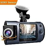 TrekPow Telecamera Auto Dash Cam Full HD 1080P, Lente Ruotabile 180°, Visione Notturna, Sensore Sony, Motion Detection, Registrazione in Loop, Time Lapse, Schermo LCD DVR Video Recorder per Auto