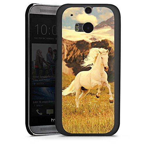 HTC One M8s Hülle Case Handyhülle Weisses Pferd Hengst Mustang Stute