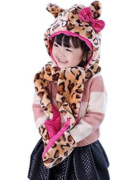 Sumolux Cappelli in Felpa Bambine Ragazze Invernale Berretto Cappello Stile Animale Caldo Coif Cappuccio Sciarpa