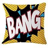 Hot Sale! Paymenow Baumwolle Leinen Quadratisch Fashion Buchstabe Print Überwurf Kissen Fall Dekorative Kissenhülle Kissenbezug für Sofa Home Kissenhülle 18'' X 18'' a