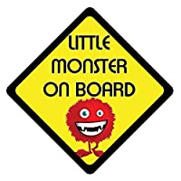 PnCGrafix Little Monster On Board Warning Safety Vehicle Decal/Vinyl/Sticker (FULL COLOUR)