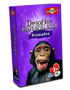 Bioviva- Juego de Cartas Desafíos Naturaleza Primates (Asmodee 309)