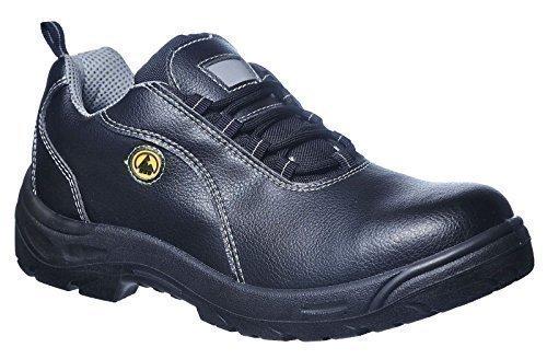Portwest Minipumpe Leder Sicherheit Schuh ESD S1, FC02BKR47 Schwarz