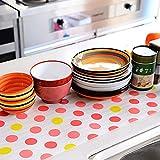 Matte zum Auslegen von Schubladen und Tischen, Rolle mit 30cm x 300cm, rutschfest, Küchenzubehör Free Size red dot