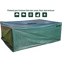 Tamaño de la funda de patio grande al aire libre impermeable cubierta de muebles de jardín/patio 2,8m x 2.04M x 1,06M/9.2Ft x 6.7Ft x 3,48m