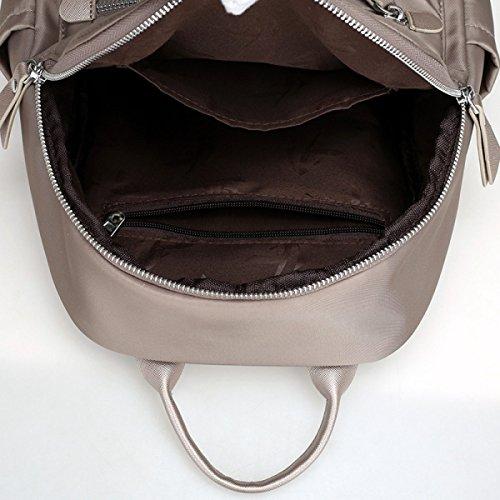Rucksack-Naht-Reißverschluss-Rucksack-Oxford-beiläufige Tasche Lightgray