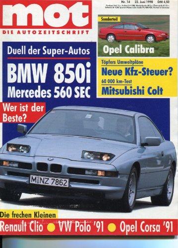 MOT - Die Autozeitschrift, Heft 14/1990, Technik & Test der Youngtimer der 90er (Motor Isuzu)