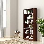 Amazon Brand - Solimo Scarlett Engineered Wood Bookcase (Walnut)