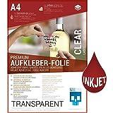 SKULLPAPER Klebefolie transparent zum aufkleben und selbst gestalten - 10 Bögen A4 für Inkjet Tintenstrahldrucker