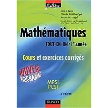 """Mathématiques """"Tout-en-un"""", 1ère année : Cours et exercices corrigés"""