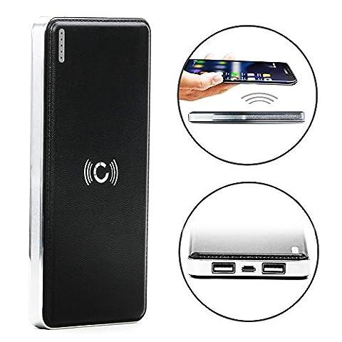 Cellonic® Wireless 2in1 Powerbank 7200mAh pour Qi sans fil avec indicateur de charge LED pour Samsung Galaxy S6, S7, Edge, Note 5 / Nokia Lumia 950, 930, 830, 735 (...) - Batterie chargeur externe USB