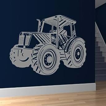 Transport du tracteur wall art mural autocollant autocollant 01 - 50cm Hauteur - 50cm Largeur - noir vinyle