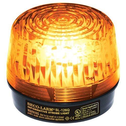 Seco-Larm Enforcer Xenon Strobe Light, 24VDC, Amber Lens (SL-126-A24Q/A) by Seco-Larm Strobe Light Amber Lens