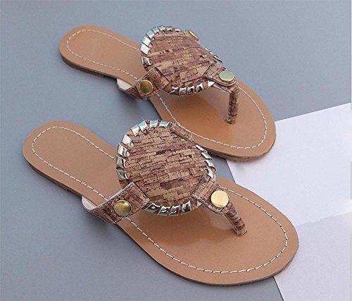 Mme Xia Jiping pantoufles orteil dossier bas avec des chaussures antidérapantes paillettes coffee