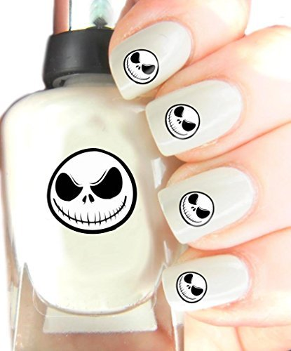 (Easy to use, High Quality Nail Art Decal Stickers For Every Occasion! Ideal Christmas Present, Stocking Filler Jack Skellington by SimplyNailArtDesign)