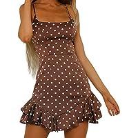 YEBIRAL Para Mujeres Bohemio con Cuello en V Bordado Sólido Suelto Bordado Manga Larga Suelta Damas Vestido de Rodilla Vestido Corta Boho Playa