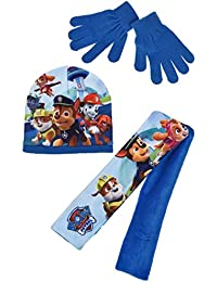 Echarpe, bonnet polaire et gants enfant La Pat' Patrouille Bleu et Rouge de 3 à 9ans