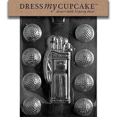 Dress My Cupcake DMCS028 Chocolate Candy Mold, Golf, Caddy, Balls by Dress My Cupcake