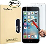 [3 confezioni Maxteck 9H protettore per schermo  per iPhone 6 6S 11,9 cm con  schermo in vetro temperato infrangibile con pellicola anti-schegge