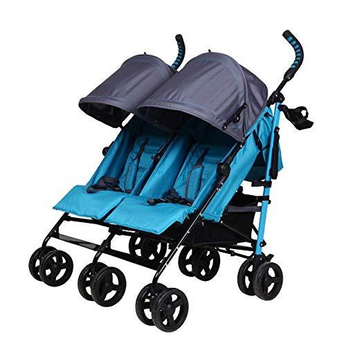 XUE Twin Baby Stroller, Leichtgewicht Falten Baby Stroller Multi-Function Baby Stroller High Chair Space Saver Comfort -