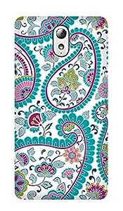 ZAPCASE PRINTED BACK COVER FOR lenovo vibe p1M- Multicolor
