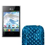 Movilconsolas Funda Silicona Gel LG Optimus L3 E400 Celeste