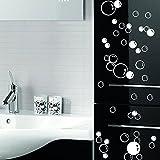 88 Waterproof Floating Bubble Loose Stickers Choose from 20 Colours Bathroom Tile Window Wall Art - Silver