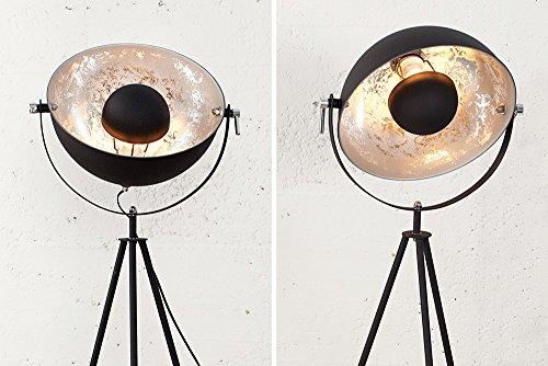 Moderne Lampen 53 : Moderne design stehlampe studio schwarz blattsilber cm
