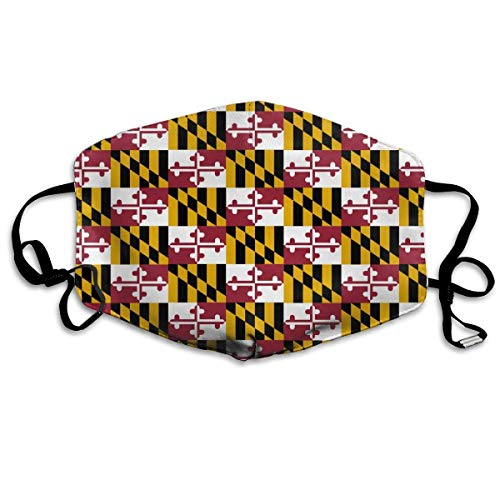 Daawqee Staubschutzmasken, Maryland State Flag Anti-dust Mouth Mask Face Masks Mouth Cover for Man and ()
