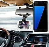 Smartphonehalterung Rückspeigelhalterung für Samsung Galaxy S7 edge, schwarz | Autohalterung Spiegel KFZ Halter - K-S-Trade (TM)