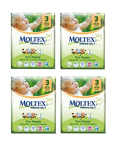 Lote de con texto en inglés 4 Moltex de cortapastas pañales de talla 35 (136 pañales reutilizables)
