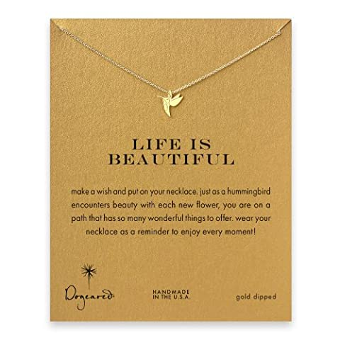 Dogeared - Collier Life is Beautiful - Plaqué or -