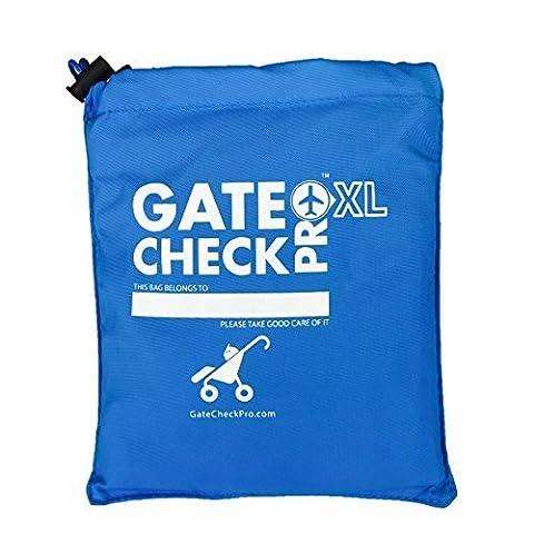 Gate Check Pro XL pour poussette double | Sac de transport pour landau et poussette | Nylon balistique ultra-résistant | Système de transport avec bretelles de sac à dos rembourrées pour votre confort