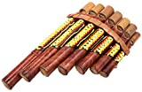 BALI PAPAYA Panflöte aus Bambus Musikinstrument Holz handwerkliche Panpipes Bamboo Flauta Panflute