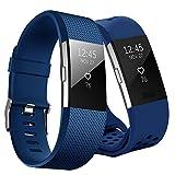 Kutop pour Fitbit Charge 2 Bracelet, Fitbit Charge2 Remplacement du Bracelet de Montre en TPU Silicone Molle Sportif et Réglable pour Fit bit Charge 2