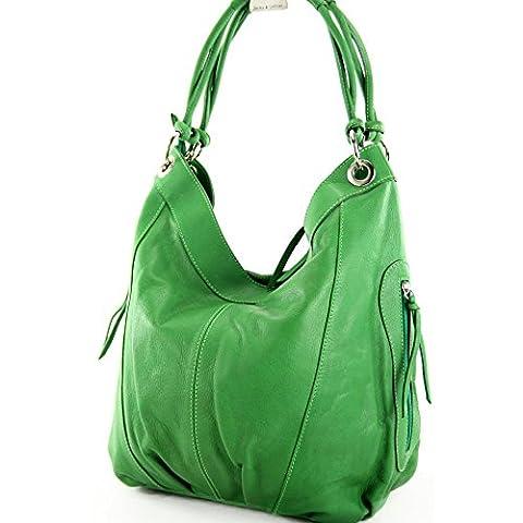 modamoda de - ital. Ledertasche Damenhandtasche Schultertasche Damentasche Nappaleder Z18, Präzise