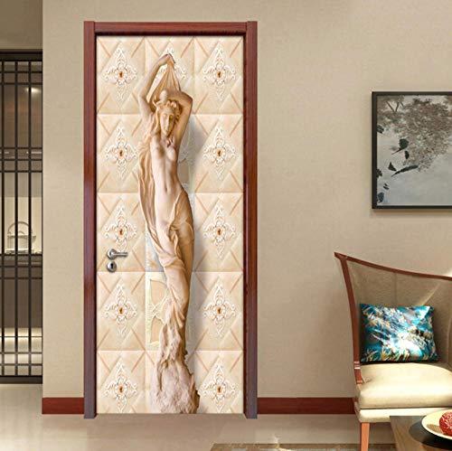 3D Pvc Puertas Mural Etiqueta Moderno Pared Fotos