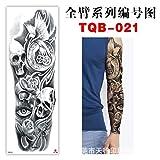 Handaxian Adesivi Tatuaggio Braccio Completo Protezione Ambientale Braccio Impermeabile Europa e Stati Uniti Popolare TQB-021 3 Pezzi